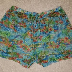 Swimsuit cover shorts.